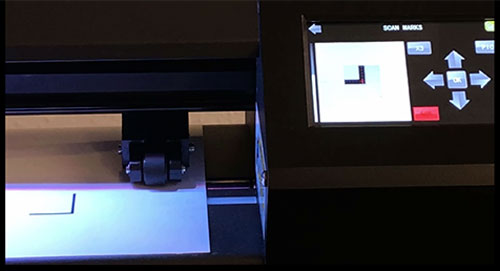 MUSE vinyl cutter camera operation