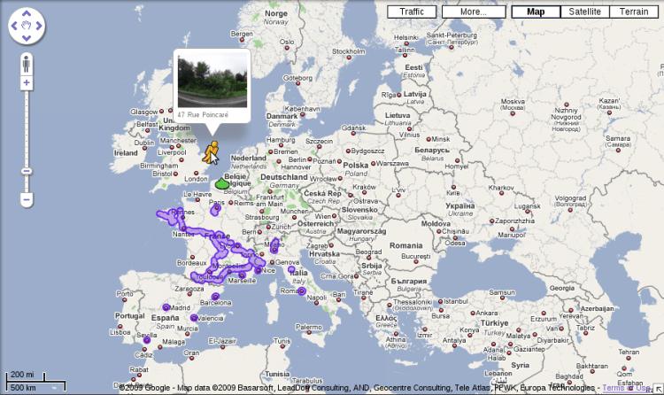 Google Street View (Europe)
