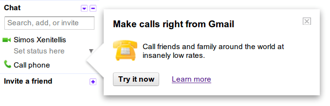 Make call right from within GMail