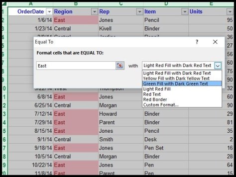 Conditional Formatting in Excel 2