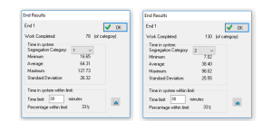 Segregating results by resource chosen from pool 4