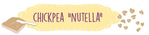 """CHICKPEA """"NUTELLA"""""""