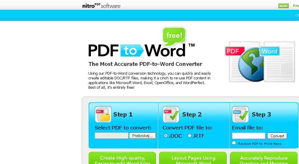 Spremeni PDF v Word dokument
