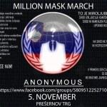 Pohod Milijon mask Anonymous
