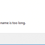 The file name is too long