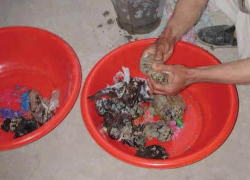 Frammentazione dei pani di oppio