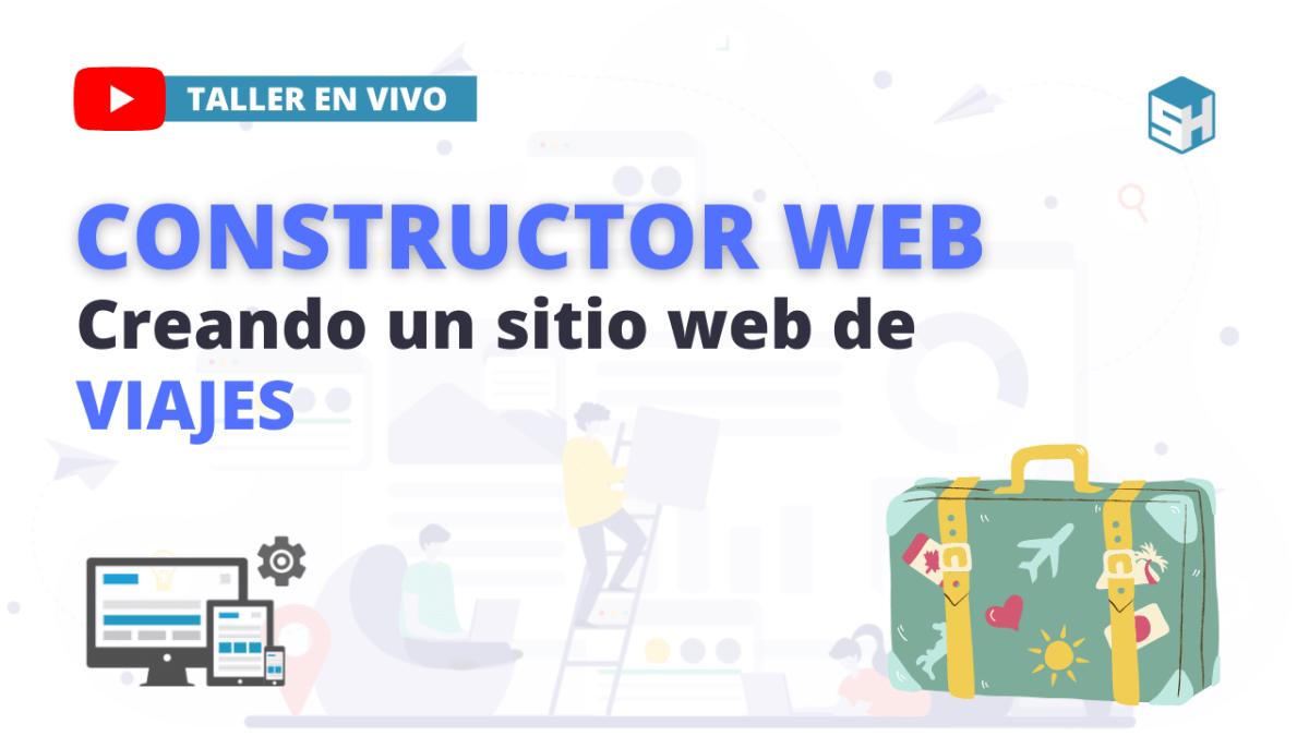 Constructor web. Cómo hacer un sitio web de viajes.