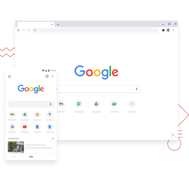 Captura de Google Chrome escritorio y movil