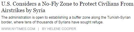 Syria No Fly Zone