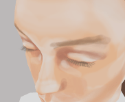 I soon feel that the model need eyelashes, so I add them from another model. Thankfully they have their own little texture which is easy to edit.