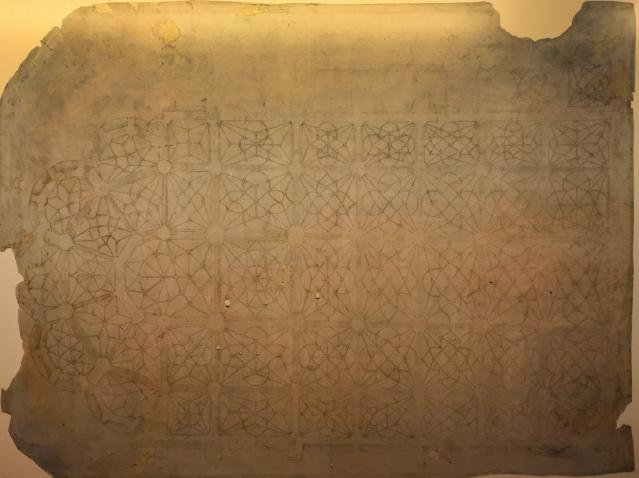Fig. 3: Original gothic vault structure plan of the cathedral. Rodrigo Gil de Hontañón 1529. Parchment 76 x 53 cm