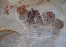 Rock art damaged by weathering and vandalism. This why we do what we do, to save these amazing sites before they are lost forever.