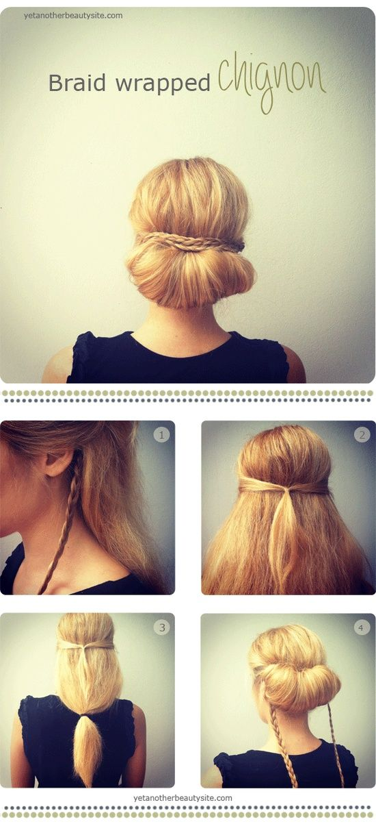 braid wrapped bun
