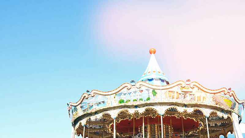 The top of a carousel