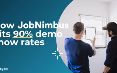 The sales tool JobNimbus uses to achieve 90% demo show rates