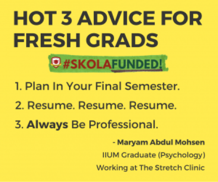 Maryam's Advice For Fresh Grads