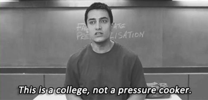This is a college, not a pressure cooker.