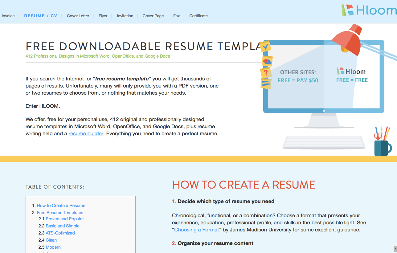 412 Free Professional Resume Templates (Hloom.com)  Free Professional Resume Templates Microsoft Word