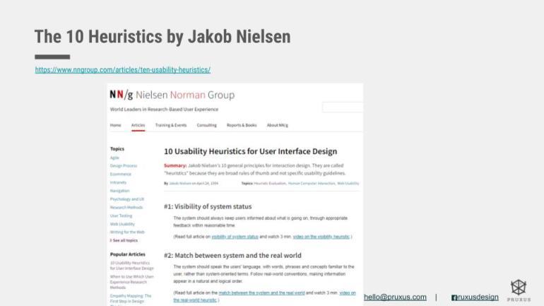 Heuristics Evaluation ( โดย Jakob Nielsen)   Skooldio Blog - ออกแบบ UI ให้เข้าถึงใจลูกค้า! ด้วย 5 Framework