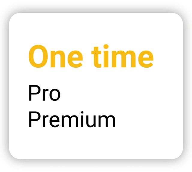 One time - Pro Premium