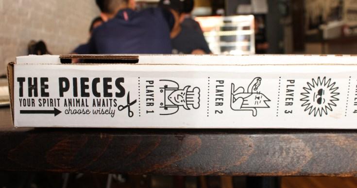 The side of Tony Boloney's pizza box