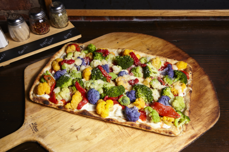 Rainbow Cauliflower Pizza