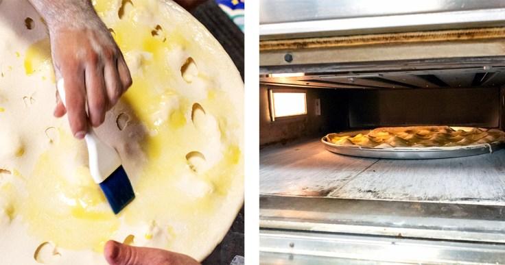 Baking Focaccia di Recco