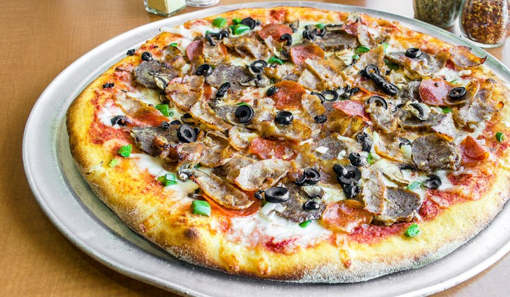 Bacon Pizza Olives