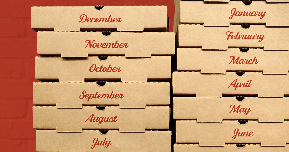 Pizza Box Months