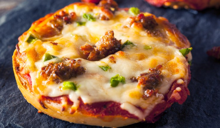 Pizza Bagel with Sausage