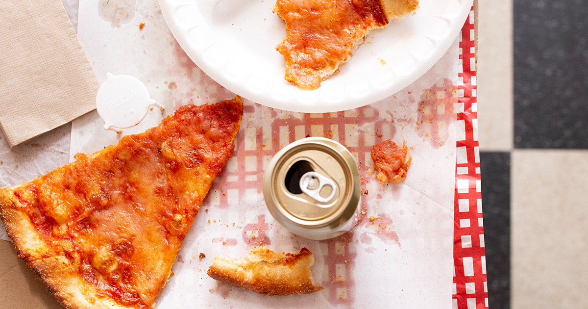 Beer Can and Pizza