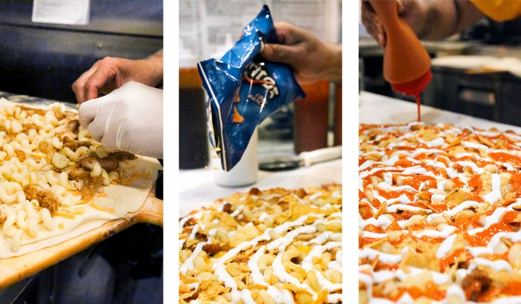 making doritos pizza
