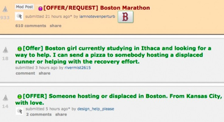 Boston Marathon pizza