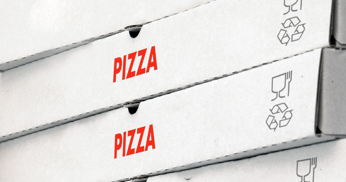 Recyclable pizza boxes