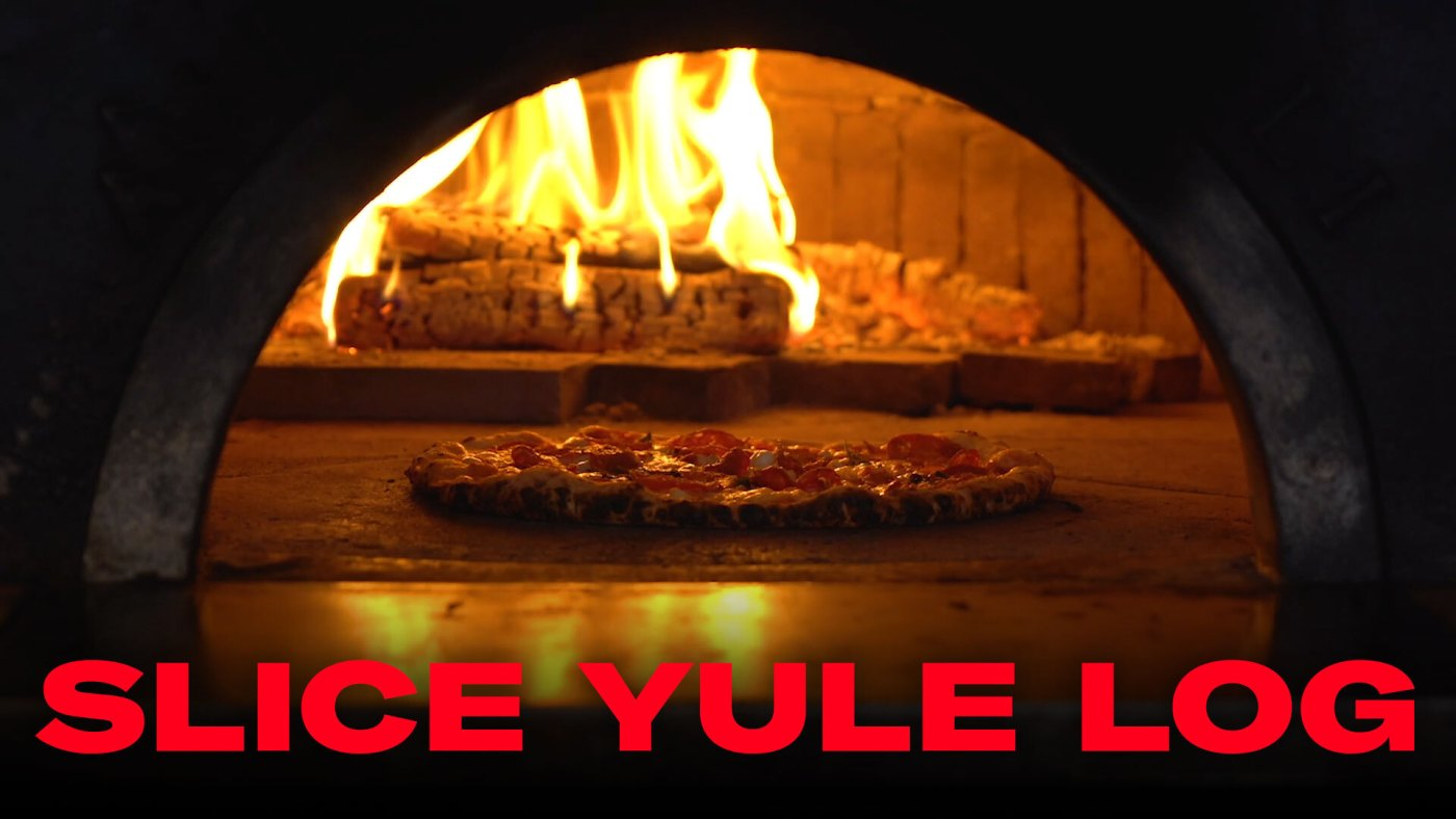 slice yule log