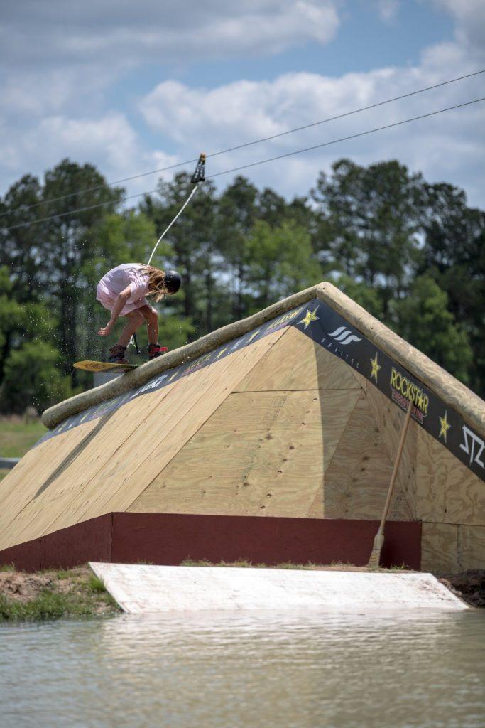 Blake Bishop on the yard sale cabin rail.