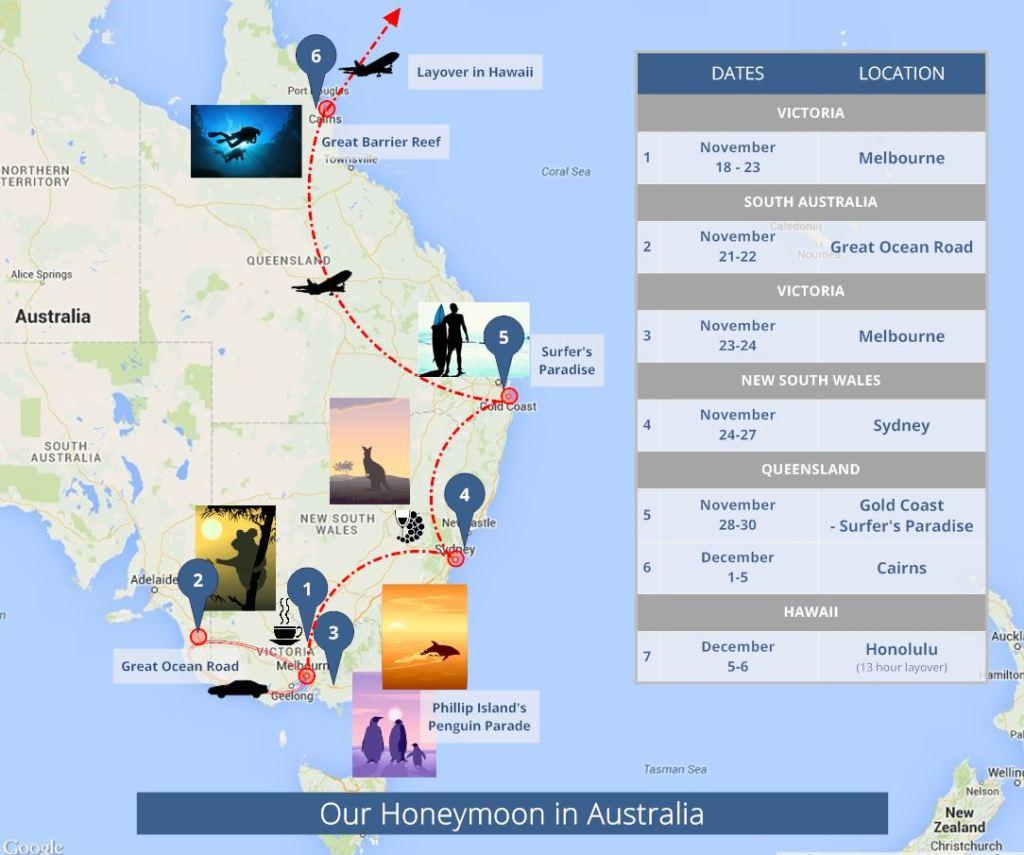 honeymoon map