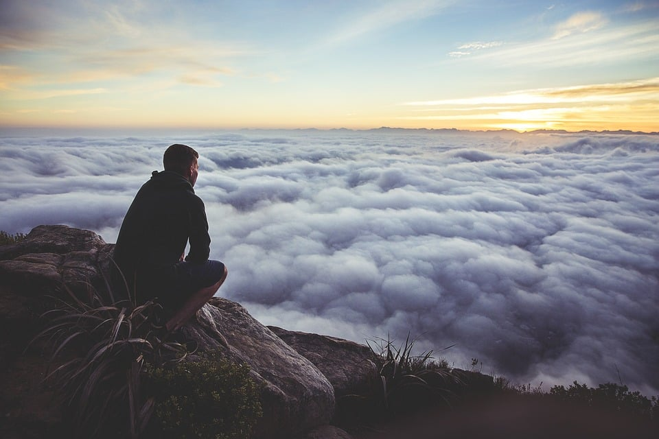 https://pixabay.com/en/sunset-sky-clouds-guy-looking-925995/