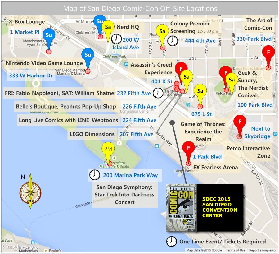 SDCC 2015 OffSiteEventMap