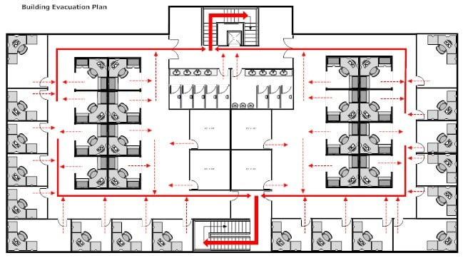 Do you have an emergency evacuation plan smartdraw blog smartdraw tip when you create your building evacuation plan you have the option to select from existing floor plans like the building evacuation plan sciox Images