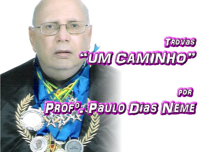 """12 - Versos """"UM CAMINHO"""" por Professor Paulo Dias Neme - Pílulas de Poesia"""