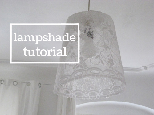 bioplastik lampshade - recipe and tutorial