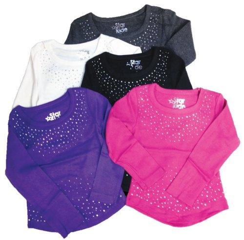 Star Ride Little Girls Embellished Tees