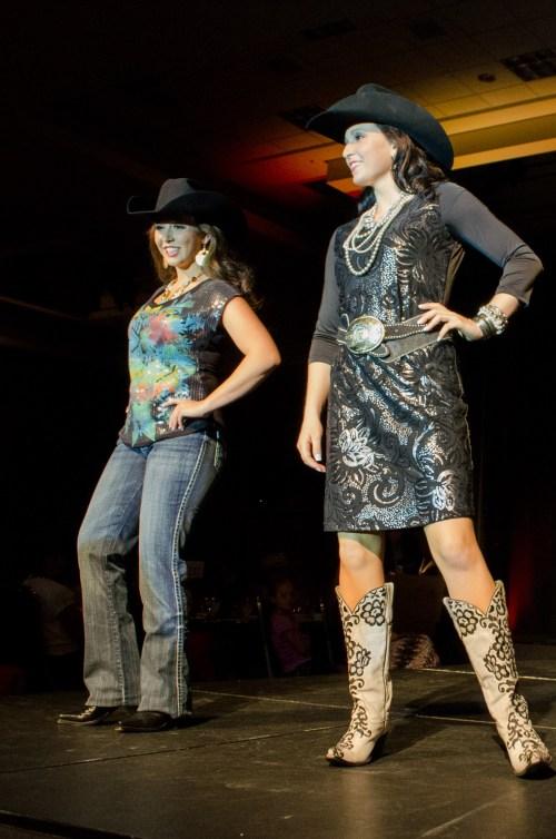Rachel Halverson and Shianne Lowe at Miss Rodeo Utah 2014