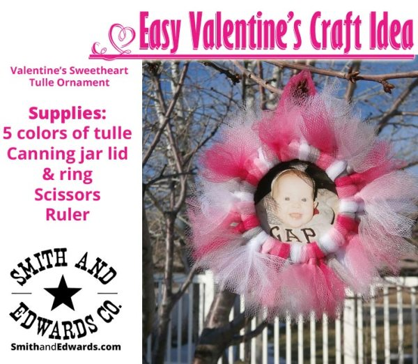 Valentine's Sweetheart Tulle Ornament