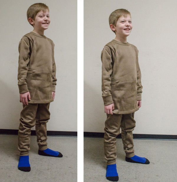Boys' polypropelene thermals at Smith & Edwards to keep him warm!