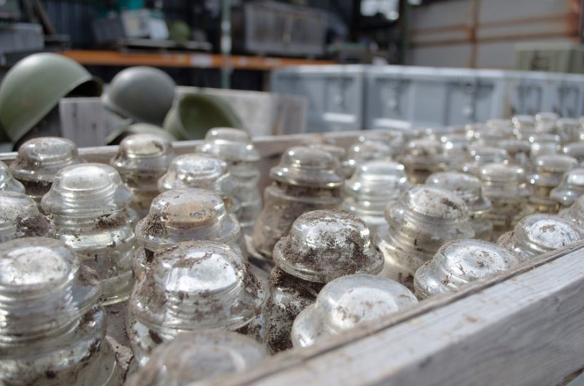 Army surplus and antique glass insulators