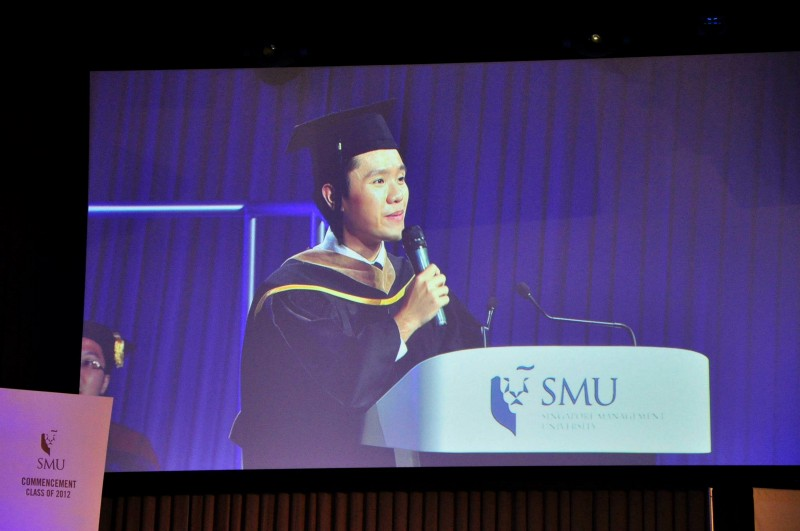 Benjamin Loh at SMU Commencement 2012