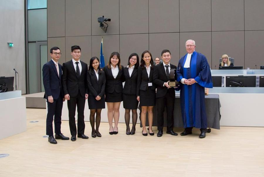 With Presiding Judge, Judge Howard Morrison at ICC Moot