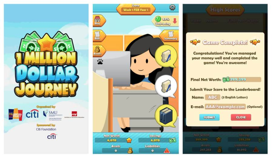 One Million Dollar Journey App